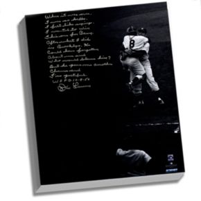 "Steiner Sports New York Yankees Don Larsen World Series Perfect Game Facsimile 22"" x 26"" Stretched Story Canvas"
