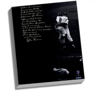 """Steiner Sports New York Yankees Don Larsen World Series Perfect Game Facsimile 22"""" x 26"""" Stretched Story Canvas"""