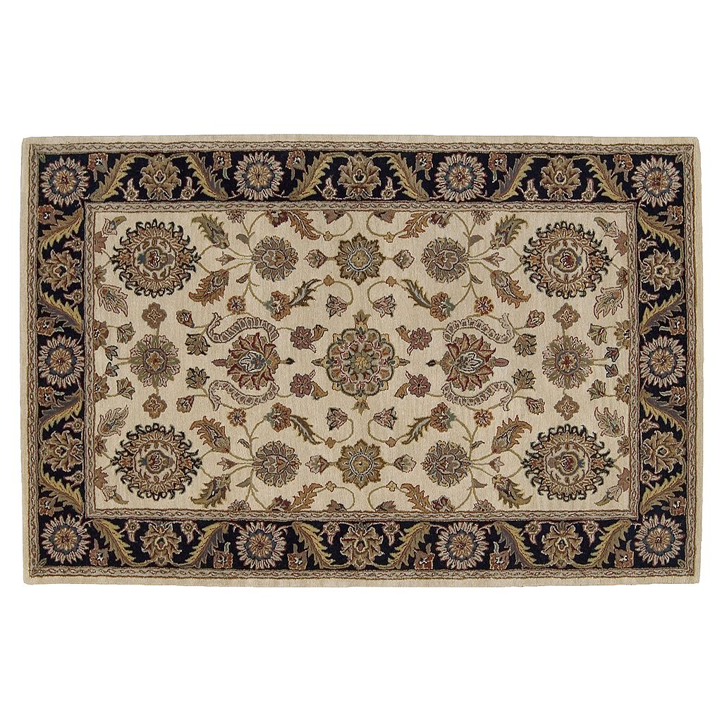 Nourison India House Floral Scroll Wool Rug