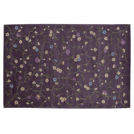 Nourison Julian Floral Vine Lavender Wool Rug
