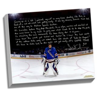 "Steiner Sports New York Rangers Henrik Lundqvist Playing in the Garden Facsimile 22"" x 26"" Stretched Story Canvas"