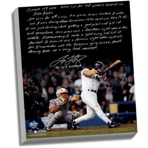 "Steiner Sports New York Yankees Tino Martinez 1998 World Series Grand Slam Facsimile 22"" x 26"" Stretched Story Canvas"