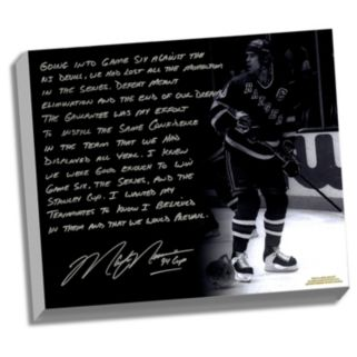 """Steiner Sports New York Rangers Mark Messier 1994 Stanley Cup Guarantee Facsimile 22"""" x 26"""" Stretched Story Canvas"""