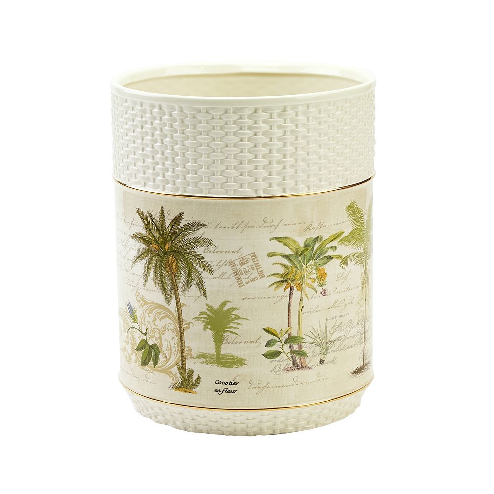 Avanti Colony Palm Wastebasket