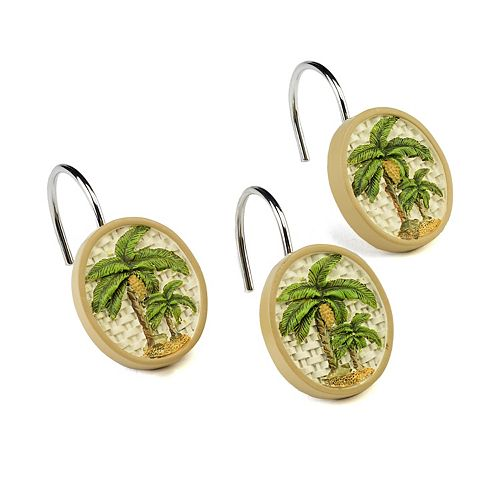 Avanti Colony Palm 12-pk. Shower Curtain Hooks