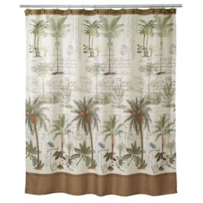 Avanti Colony Palm Fabric Shower Curtain