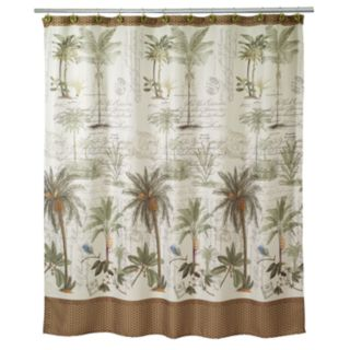 Avanti Colony Palm Fabric Shower Curtain