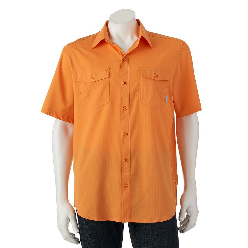 Button front moisture wicking shirt kohl 39 s for Moisture wicking button down shirts