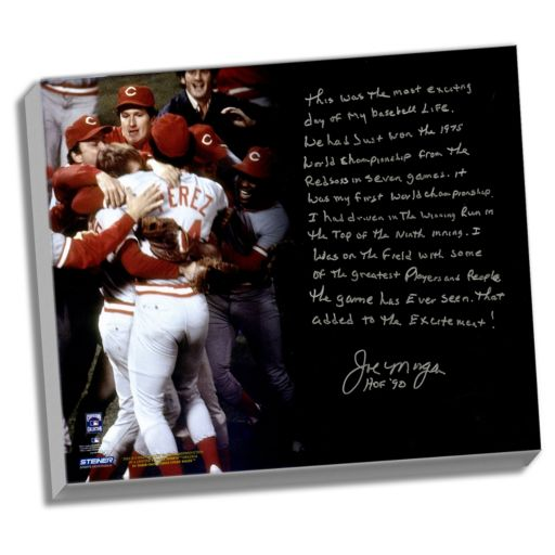 "Steiner Sports Cincinnati Reds Joe Morgan Big Red Machine Facsimile 22"" x 26"" Stretched Story Canvas"
