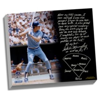 """Steiner Sports Atlanta Braves Dale Murphy Back-to-Back MVPs Facsimile 22"""" x 26"""" Stretched Story Canvas"""