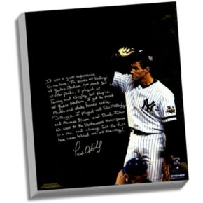 """Steiner Sports New York Yankees Paul O'Neill Playing in New York Facsimile 22"""" x 26"""" Stretched Story Canvas"""