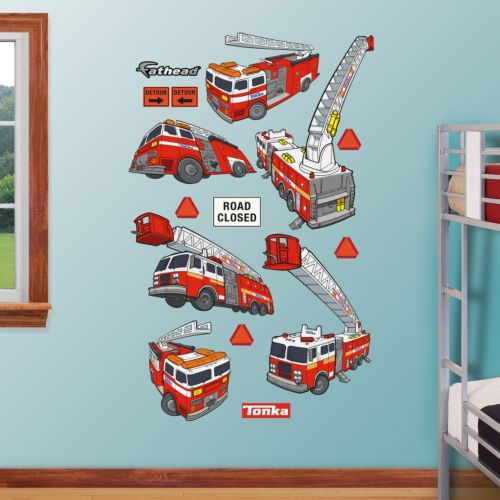Tonka Fire Truck Collection Wall Decals by Fathead