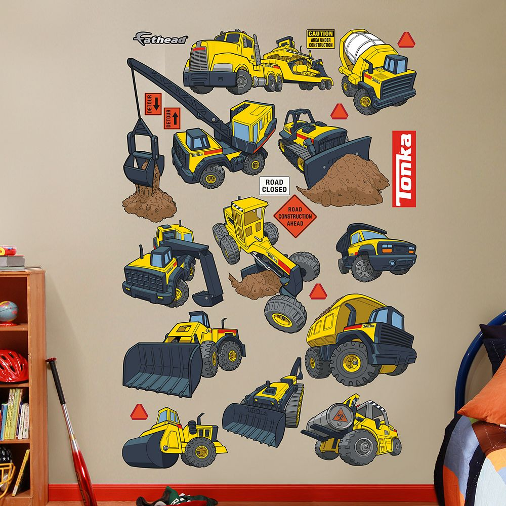 Construction truck collection wall decals by fathead tonka construction truck collection wall decals by fathead amipublicfo Images
