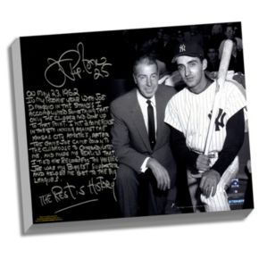 """Steiner Sports New York Yankees Joe Pepitone About Joe DiMaggio Facsimile 22"""" x 26"""" Stretched Story Canvas"""