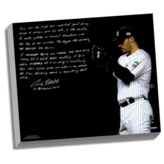 """Steiner Sports New York Yankees Andy Pettitte Postseason Focus Facsimile 22"""" x 26"""" Stretched Story Canvas"""