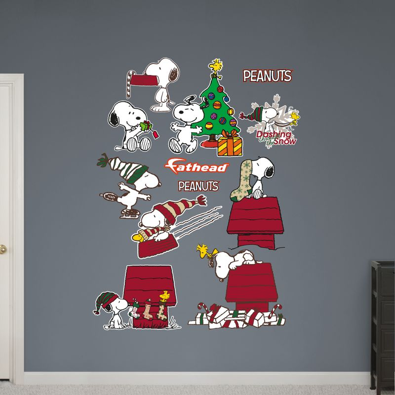 Peanuts Snoopy Christmas Collection Wall Decals by Fathead