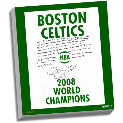 Steiner Sports Boston Celtics Paul Pierce 2008 Champions Banner Facsimile 22 x 26 Stretched Story ...