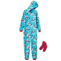 Jelli Fish Kids Fleece One-Piece Pajamas - Girls 4-16