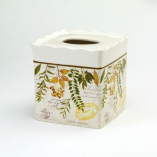 Avanti Foliage Garden Tissue Box Cover