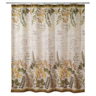 Avanti Foliage Garden Fabric Shower Curtain