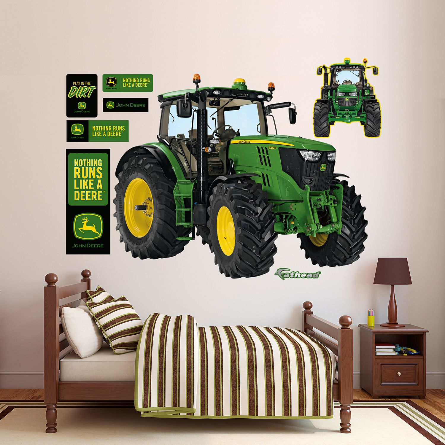 Superieur John Deere 6210R Tractor Wall Decals By Fathead