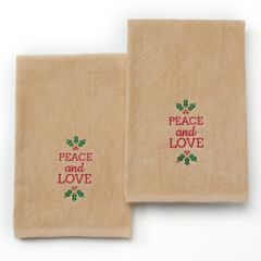 St. Nicholas Square® ''Peace and Love'' 2-pk. Hand Towels