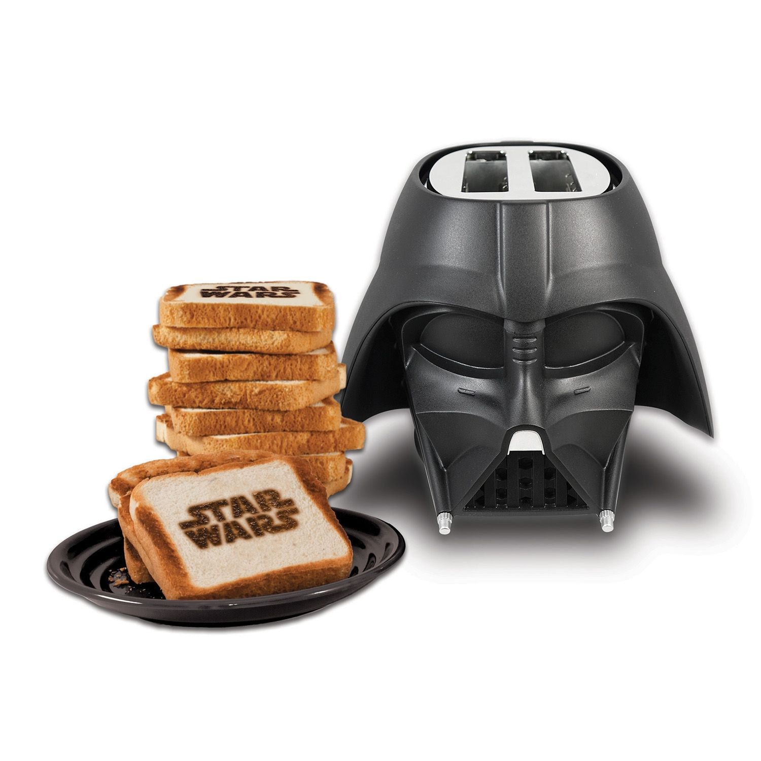 Star Wars Darth Vader 2 Slice Toaster Black Brand