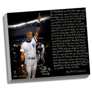 """Steiner Sports New York Yankees Darryl Strawberry 1996 World Series Facsimile 22"""" x 26"""" Stretched Story Canvas"""