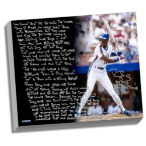 "Steiner Sports New York Mets Darryl Strawberry 1986 Mets Facsimile 22"" x 26"" Stretched Story Canvas"