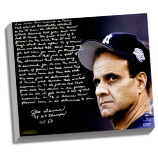 "Steiner Sports New York Yankees Joe Torre 1998 Team of the Century Facsimile 22"" x 26"" Stretched Story Canvas"