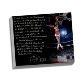 "Steiner Sports Atlanta Hawks Spud Webb Slam Dunk Contest Facsimile 22"" x 26"" Stretched Story Canvas"