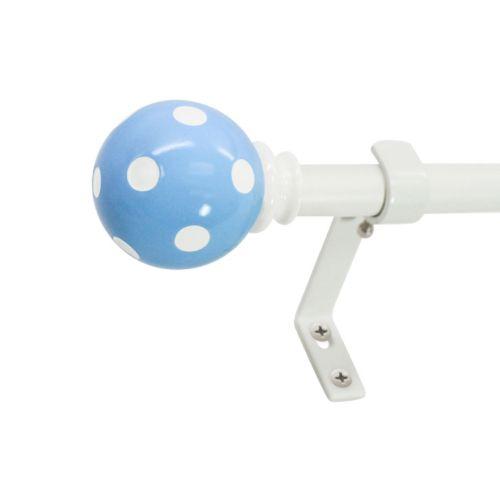 "Decopolitan Ball Polka-Dot Adjustable Curtain Rod – 28"" x 48"""