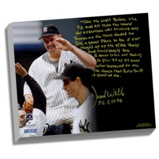 """Steiner Sports New York Yankees David Wells Perfect Game Facsimile 22"""" x 26"""" Stretched Story Canvas"""