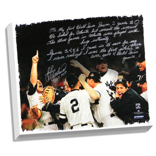 "Steiner Sports New York Yankees John Wetteland 1996 World Series Facsimile 22"" x 26"" Stretched Story Canvas"
