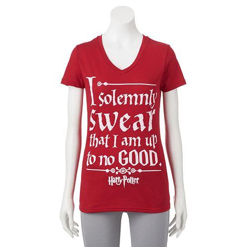 2748c30b4 Juniors' Harry Potter ''I Solemnly Swear'' Graphic T-Shirt