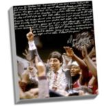 "Steiner Sports North Carolina State Wolfpack Dereck Whittenburg Jimmy V Facsimile 22"" x 26"" Stretched Story Canvas"