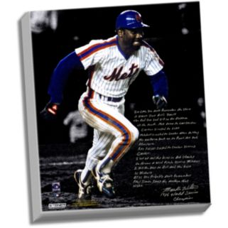 "Steiner Sports New York Mets Mookie Wilson 1986 Buckner Game Facsimile 22"" x 26"" Stretched Story Canvas"