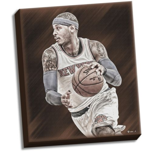Steiner Sports New York Knicks Carmelo Anthony 22 x 26 Stretched Canvas