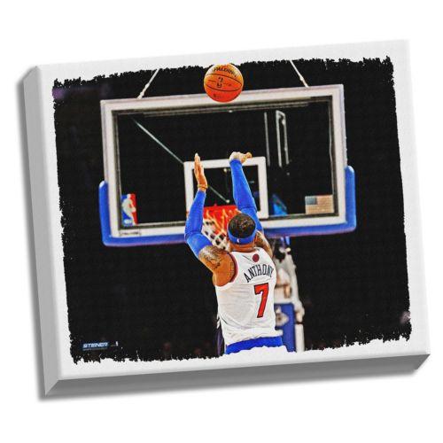 Steiner Sports New York Knicks Carmelo Anthony 32″ x 40″ Stretched Canvas