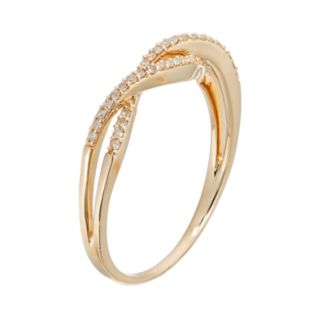 1/8 Carat T.W. Diamond 10k Gold Openwork Twist Ring