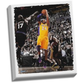 """Steiner Sports Los Angeles Lakers Kobe Bryant Fadeaway Jump Shot 32"""" x 40"""" Stretched Canvas"""