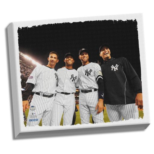 "Steiner Sports New York Yankees Core Four 32"" x 40"" Stretched Canvas"