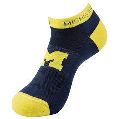 Michigan Wolverines Spirit No-Show Socks - Men