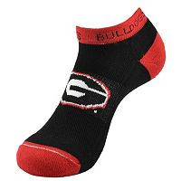 Men's Georgia Bulldogs Spirit No-Show Socks