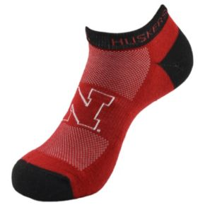 Men's Nebraska Cornhuskers Spirit No-Show Socks