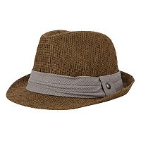Haggar® Glenn Plaid Straw Fedora - Men