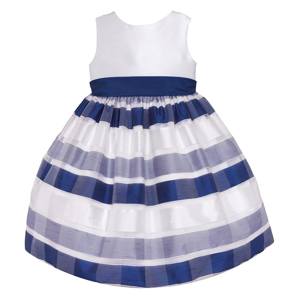 American Princess Striped Burnout Dress - Girls 7-16