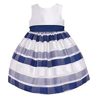 American Princess Striped Burnout Dress - Girls 7-16