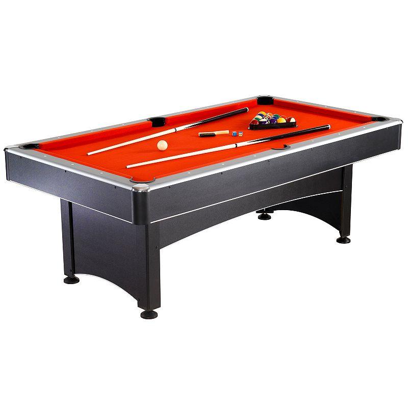 Hathaway Maverick 7-ft. Pool & Table Tennis Table (Black)