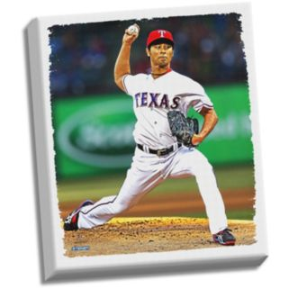 "Steiner Sports Texas Rangers Yu Darvish 32"" x 40"" Stretched Canvas"